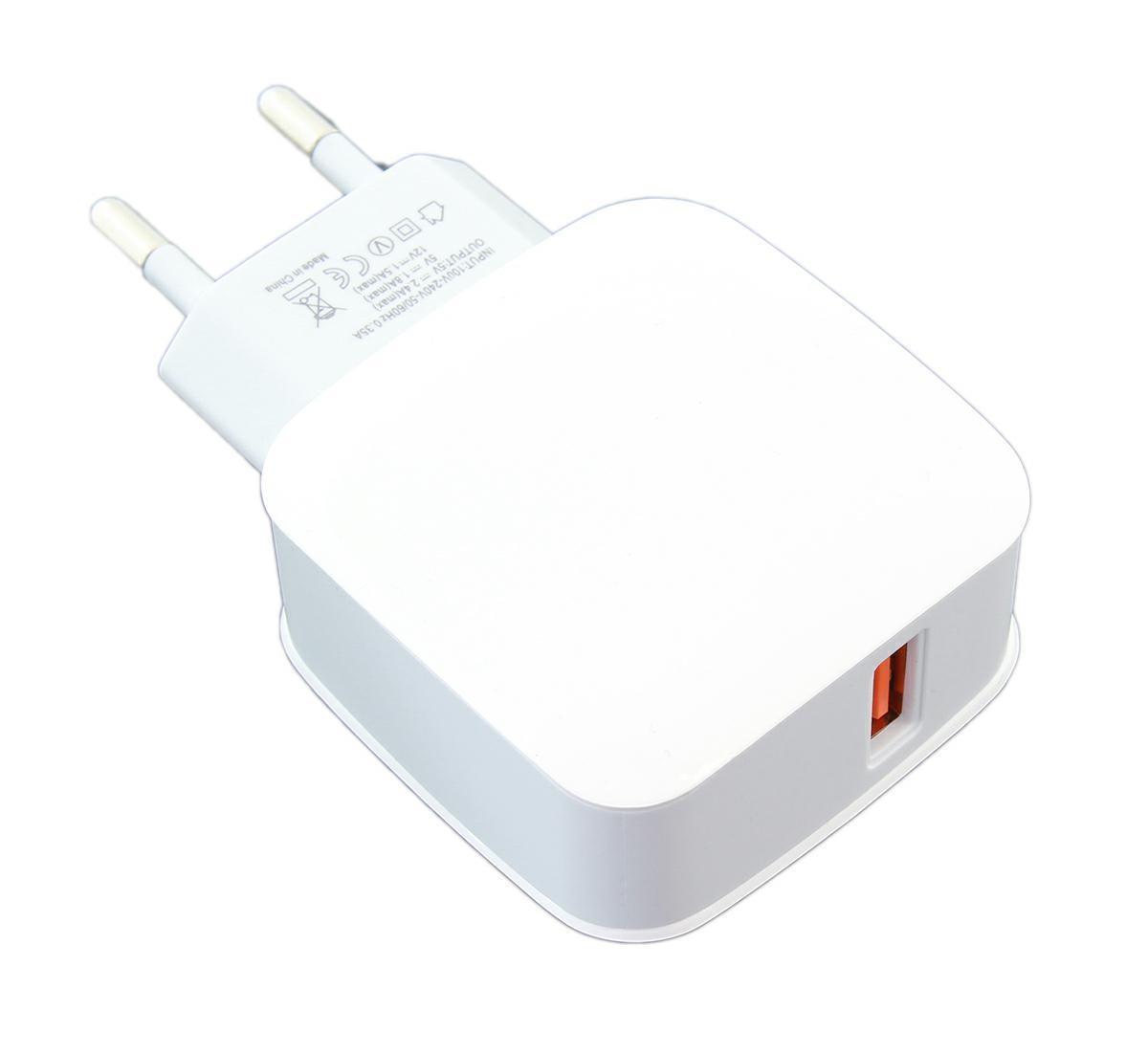 LED21 PLP37B UNIVERZÁLNÍ SÍŤOVÁ NABÍJEČKA s přepěťovou ochranou a 1x USB 3.0 2.4A